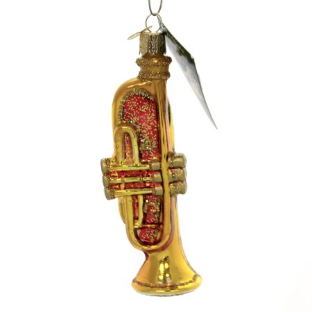 Christmas Trumpet Images.Old World Christmas Trumpet Glass Music Instrument