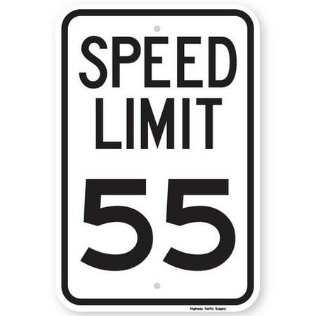 SPEED LIMIT 55 MPH Sign 12