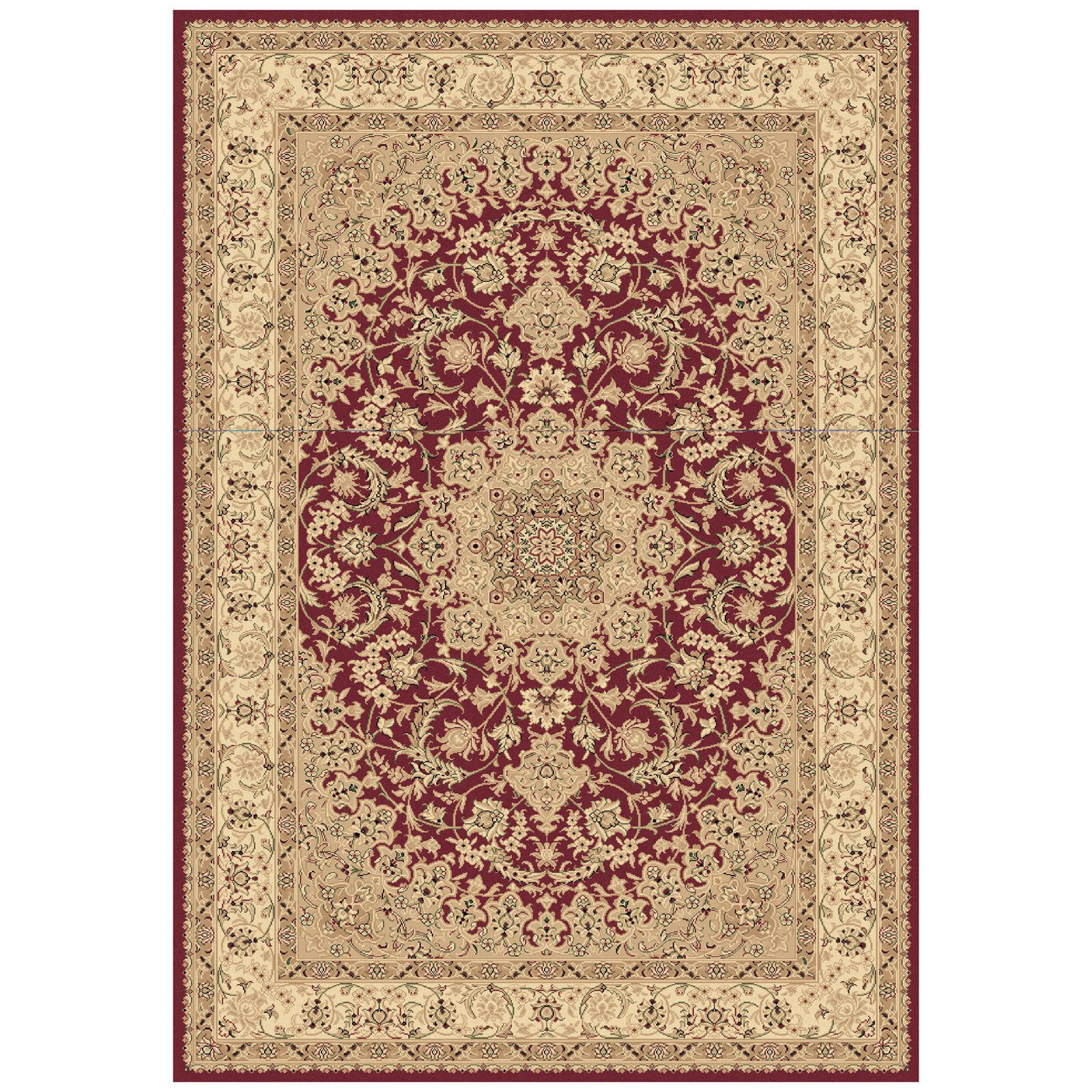 Dynamic Rugs Legacy 58000 Star Point Persian Rug - Red