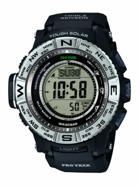 428dbea495f0 Casio Men s PRO TREK Atomic Solar Triple Sensor Watch