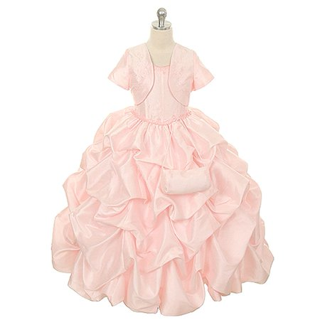 cf48b9800ee25 Rain Kids Pink Pick Up Special Occasion Dress Little Girls 2T-6