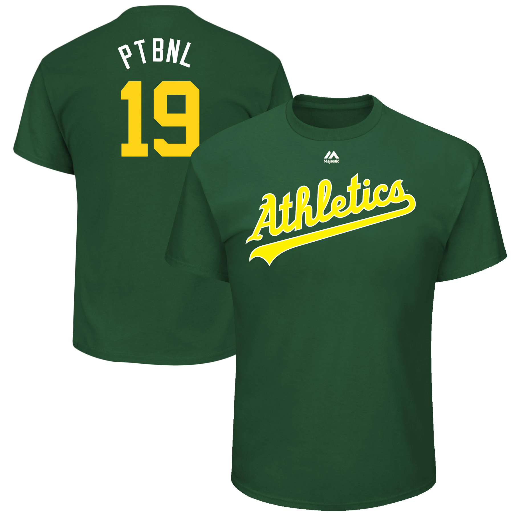 """Josh Phegley """"PTBLN"""" Oakland Athletics Majestic Youth 2017 Players Weekend Name & Number T-Shirt - Green"""