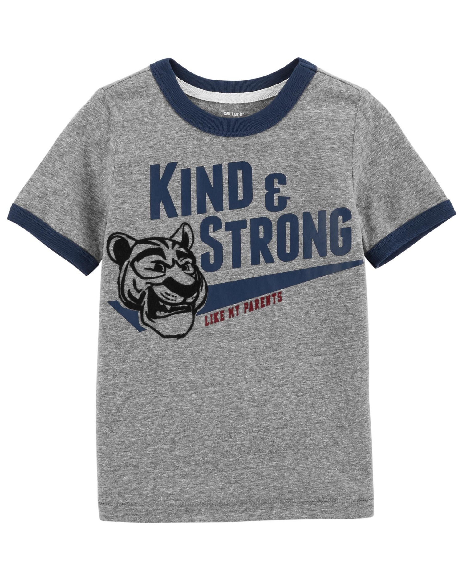 Carter's Little Boys' Kind & Strong Snow Yarn Ringer Tee, 2-Toddler