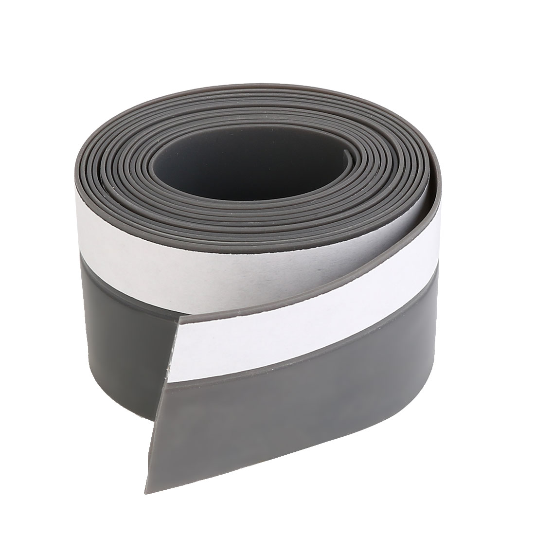 Weather Stripping Silicone Door Seal Stopper Gray 6.6 Ft Length,1.8 Inch Width