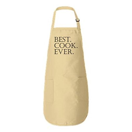 Best Cook Ever Full-Length Apron with Pockets Natural One -
