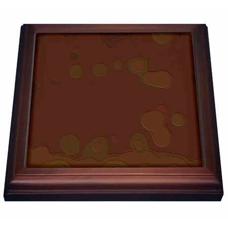 Lights Trivet (3dRose Textile Pattern Brown And Green Blobs, Trivet with Ceramic Tile, 8 by 8-inch)