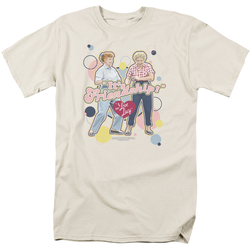 Trevco I LOVE LUCY ITS FRIENDSHIP Cream Adult Unisex T-Shirt