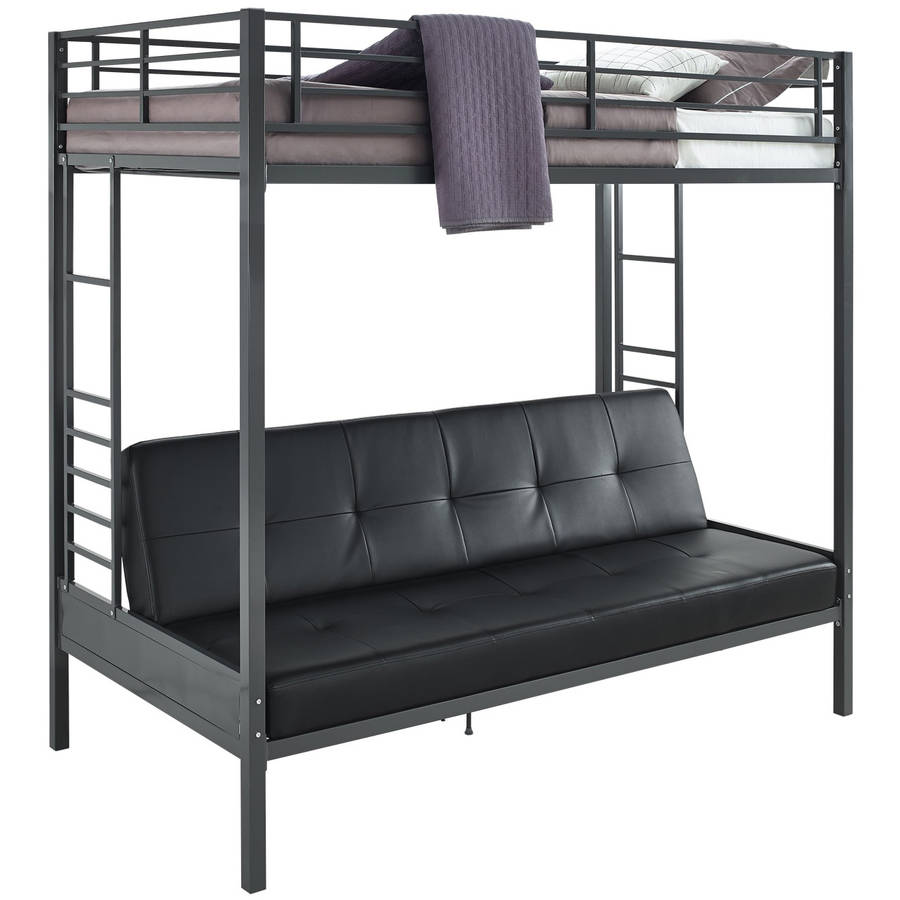 Dhp Jasper Premium Twin Over Futon Bunk