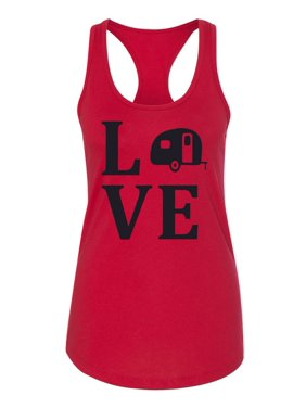 40b32222412f7 Product Image Love RV Camping Recreational Vehicle Womens Racerback Tank Top
