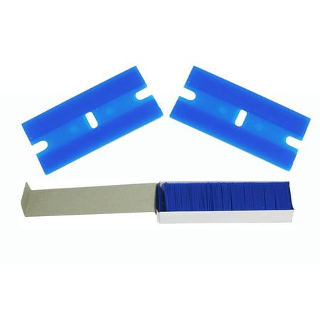 - ABN 100 Piece Plastic Razor Scraper Blades