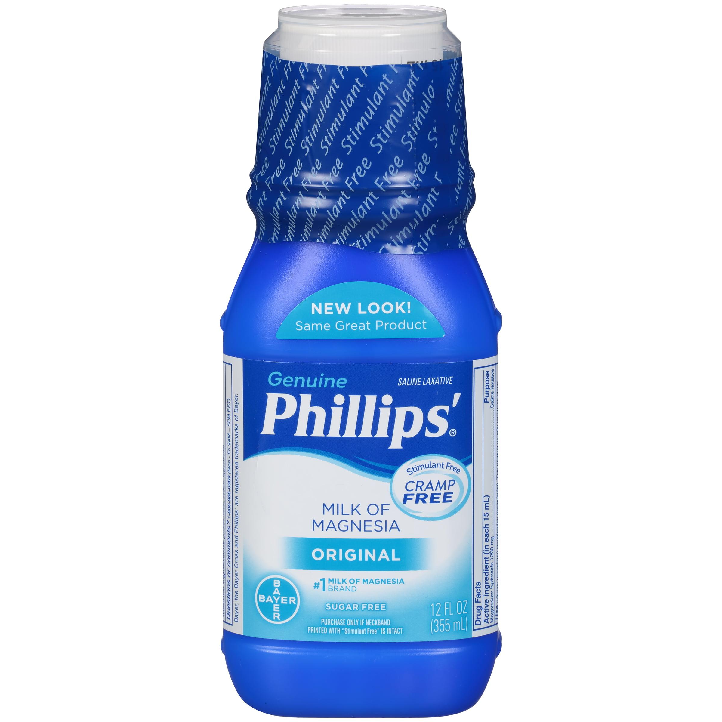 Phillips' Milk Of Magnesia Liquid Laxative, Original, 12 Fl Oz