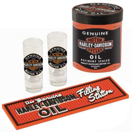 Harley-Davidson Genuine Oil Can Shot Glass Set HDL-18703, Harley Davidson