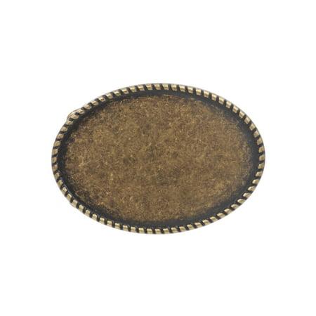 Western Plain Oval Hammered Vintage Belt Buckle (Plain Buckle)