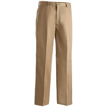 Ed Garments Men's Casual Chino Blend Easy Fit Pant, KHAKI, 32 34