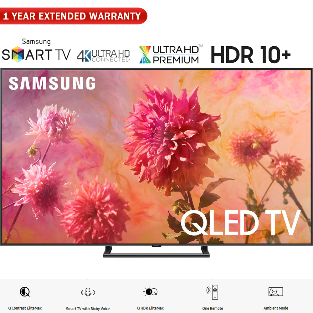 """Samsung QN75Q9FNA 75"""" Q9FN QLED Smart 4K UHD TV (2018 Model) - (Certified Refurbished) with 1 Year Extended Warranty"""