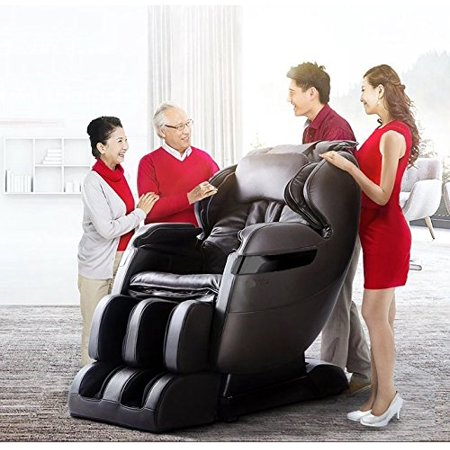 2019 BEST VALUED MASSAGE CHAIR BY FOREVER REST FR-5KsL PREMIER BACK SAVER, L-TRACK SYSTEM, SHIATSU, ZERO GRAVITY MASSAGE CHAIR WITH FOOT ROLLING AND BUILT IN HEAT, STRETCH & SWING MODE (DARK