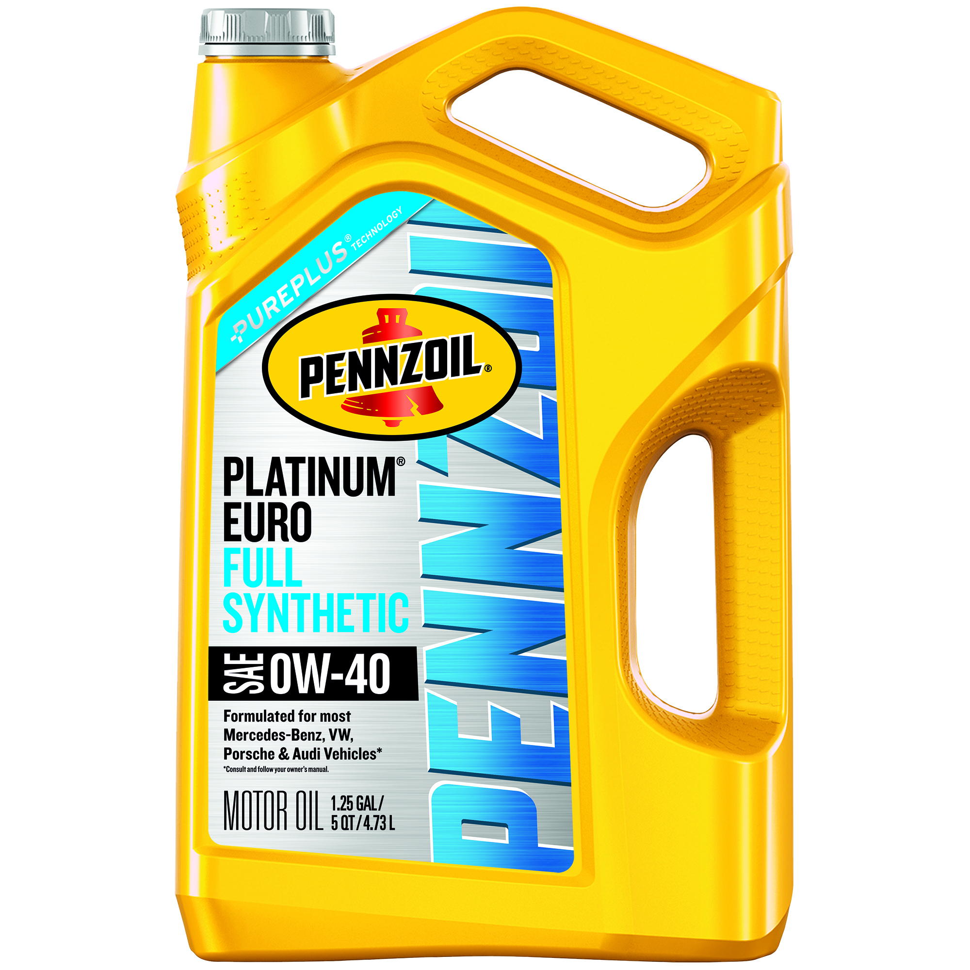 Pennzoil Platinum Euro 0W-40 Full Synthetic Motor Oil, 5 qt