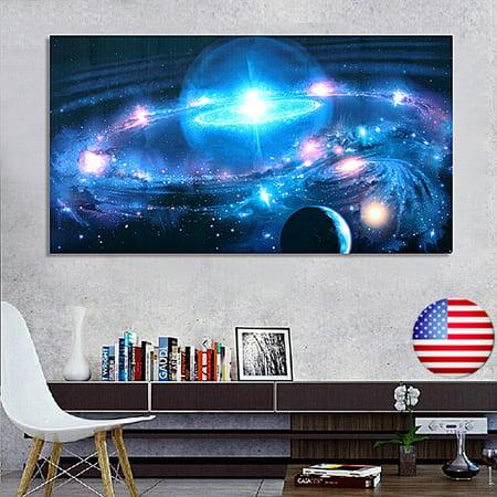 Kenya Silk Print (Andromeda Galaxy Stars Universe Space Silk Poster Art Print Wall Hanging Home Decor 43 x 24