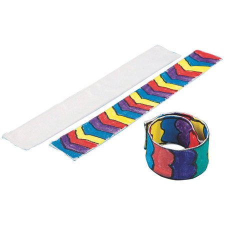 Diy Slap Bracelets (Color Me Fabric Slap Bracelet, Pack of)