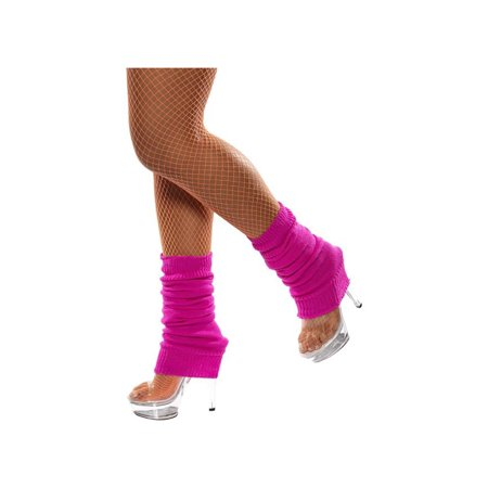 Adult Hot Pink Legwarmers by Smiffys 32757 - Smiffys Halloween Props