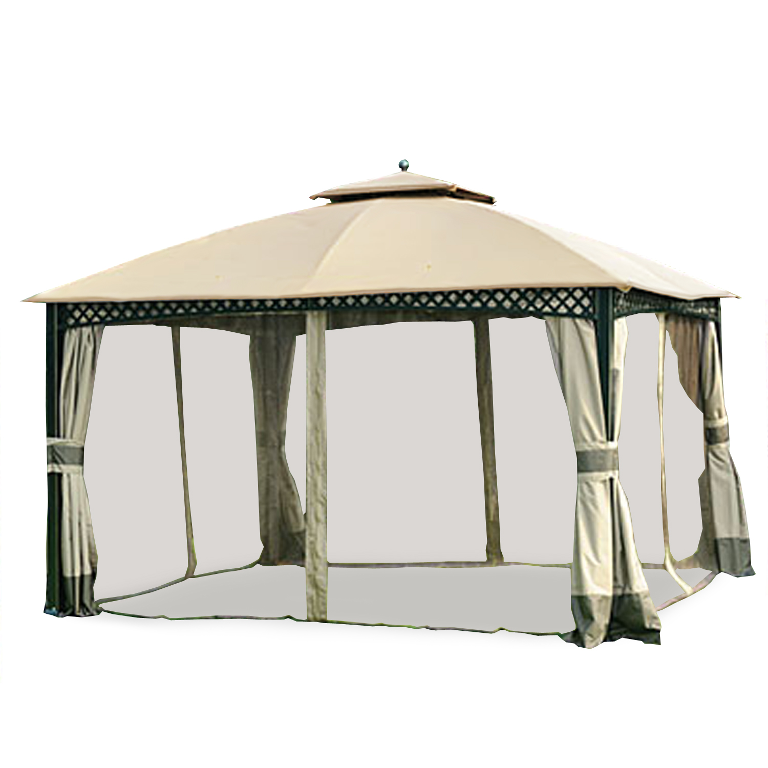 Garden Winds Replacement Canopy Top for Windsor Dome Gazebo, Riplock 350