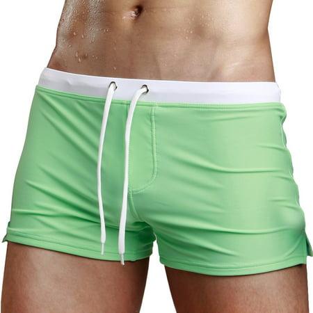 93d10c1f18 Sexy Swimsuit Fashion Swimming Trunks Briefs Beach Shorts Mens Underpant  GN/XL - Walmart.com