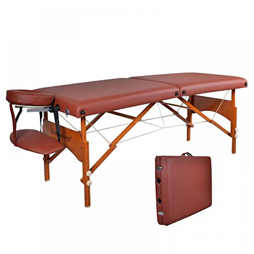 "BestMassage 28"" Professional Portable Massage Table With Memory Foam Layer"