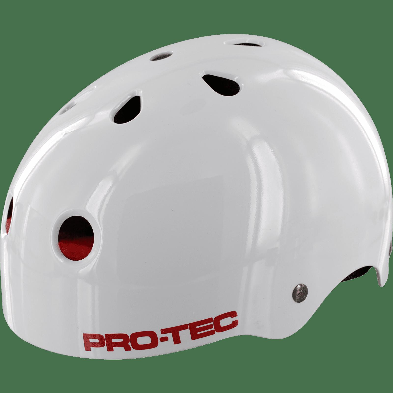 Protec (CPSC) Cab Classic - LARGE Gloss White Dragon Helmet