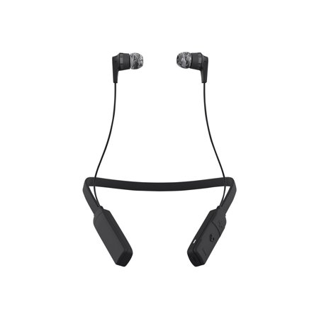 Skullcandy Inkd Wireless   Earphones With Mic   In Ear   Wireless   Bluetooth   Noise Isolating   Gray  Black