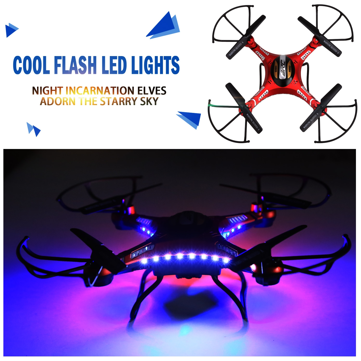 5.8G 4CH 6-Axis RC Quadcopter Drone With HD 720P Video Camera 3D Mode, 2.4G Antenna, LED... by