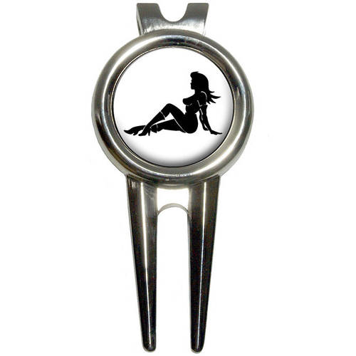 Sexy Mudflap Girl Golf Divot Repair Tool and Ball Marker