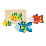 """Wooden Fish Puzzle 7"""" by Goki"""
