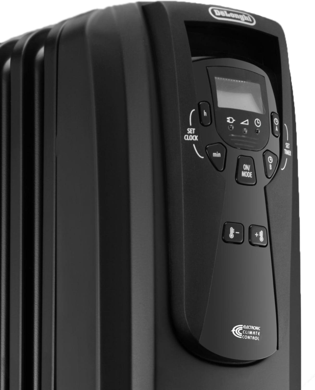 Delonghi safe heat oil filled radiator - Delonghi Electric 1500w Digital Oil Filled Convection Radiator Heater Ew7507eb Walmart Com