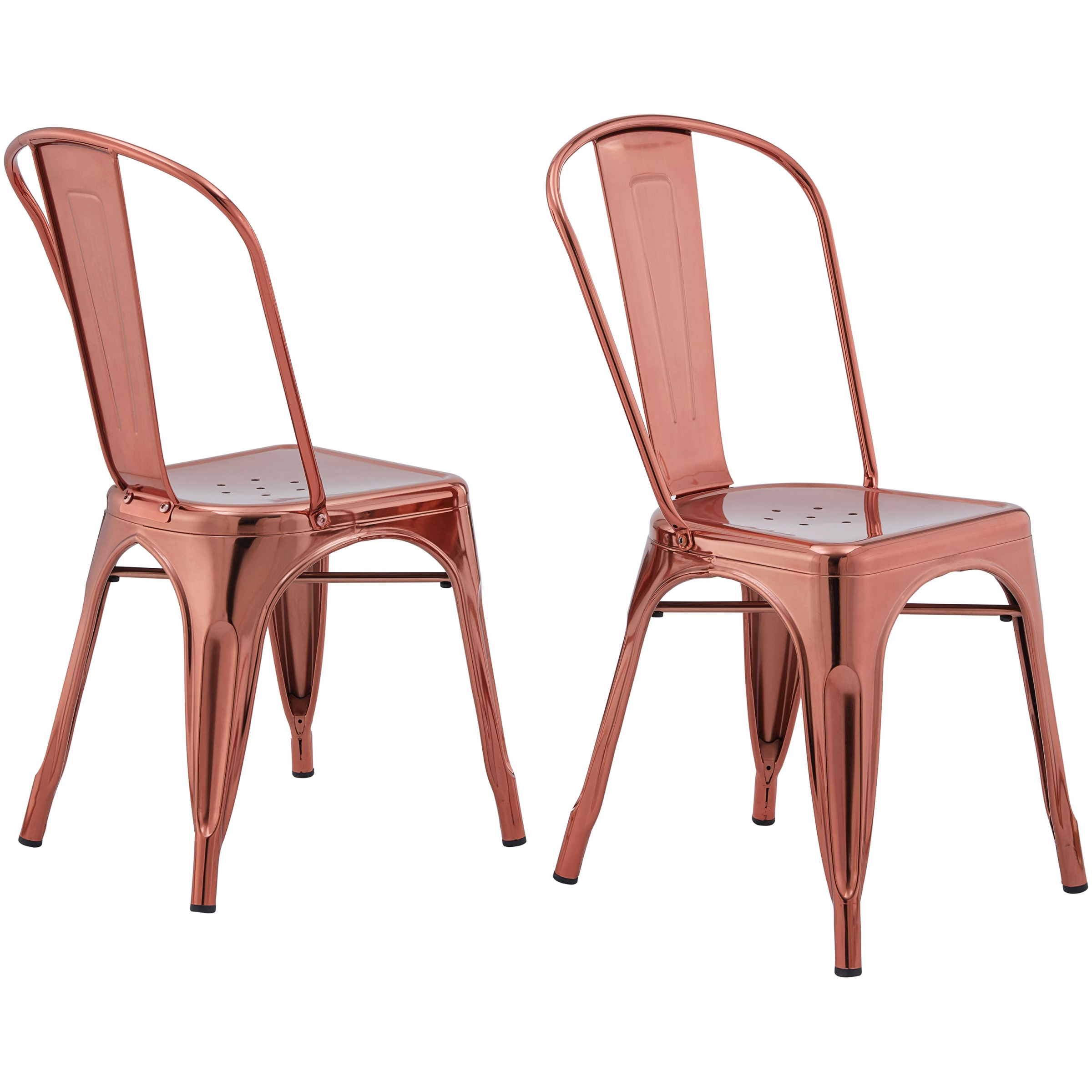 Better Homes & Gardens Leo Dining Chairs, Set of 2, Rose Gold