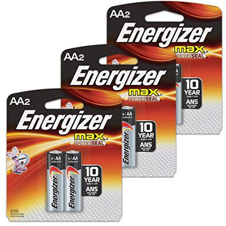 6 Count Energizer Max AA Batteries - 3 Pack of 2 AA2 Total of 6 Batteries, The Perfect Choice of Power for All AA Battery Operated Devices 6 Count Energizer Max AA Batteries - 3 Pack of 2 AA2 Total of 6 Batteries, The Perfect Choice of Power for All AA Battery Operated Devices