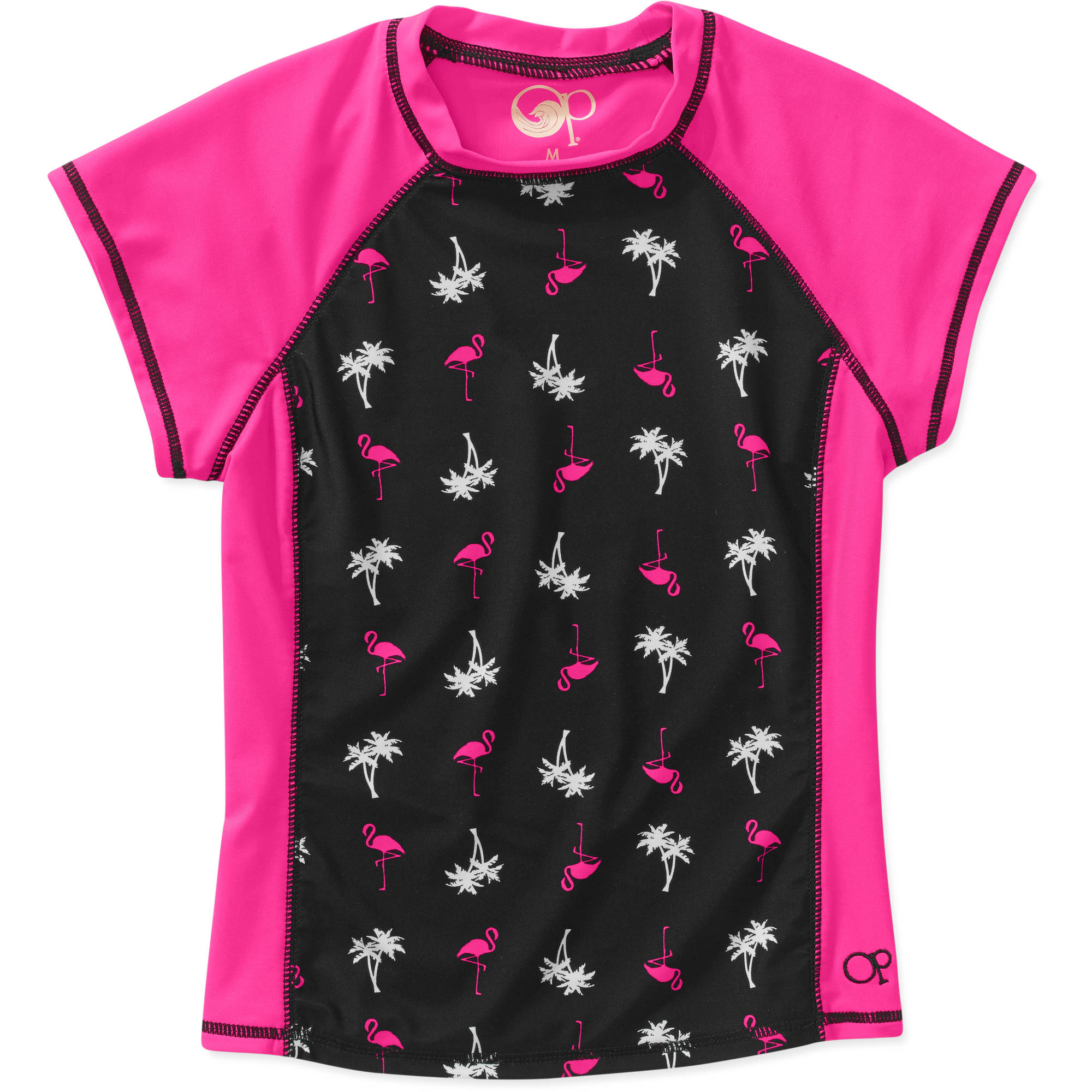 Girls' Flamingo Flare Rash Guard