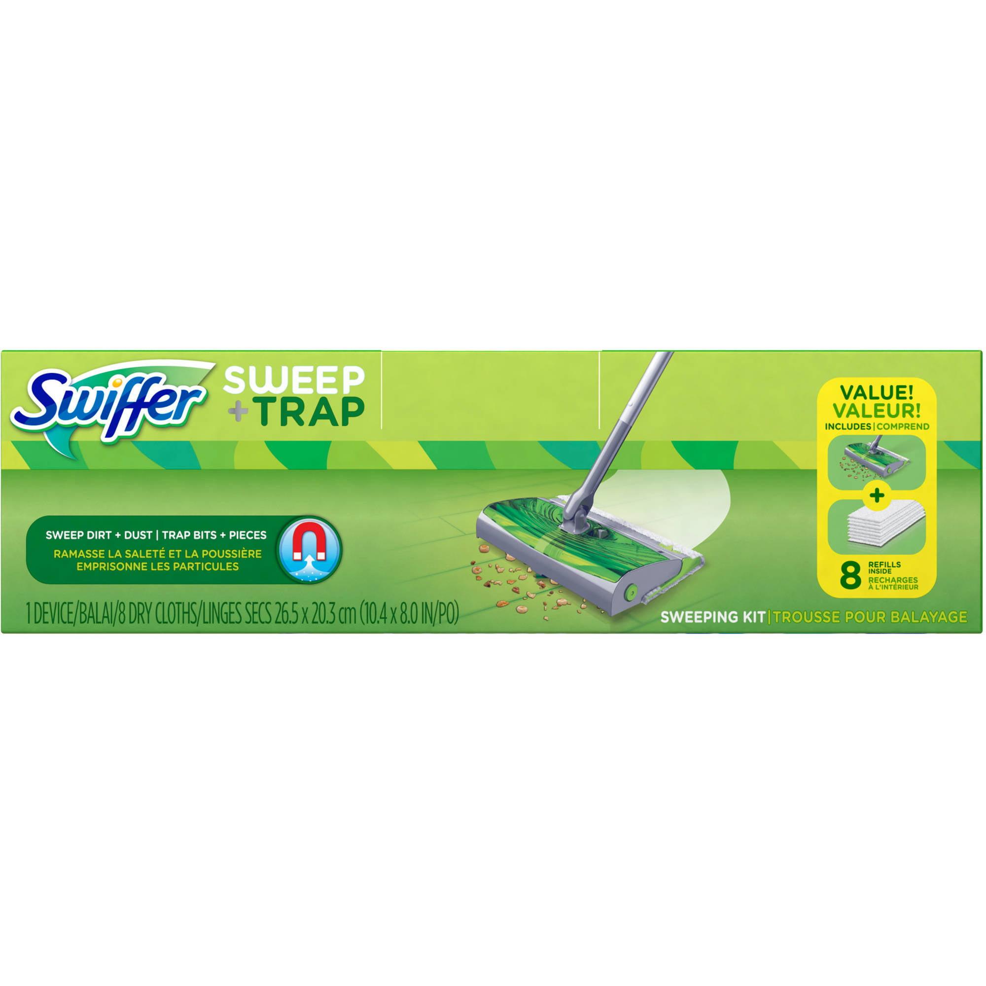 Swiffer Sweep+Trap Floor Cleaner Starter Kit, 9 pc