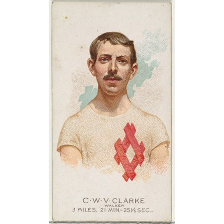 CWV Clarke Walker from Worlds Champions Series 2 (N29) for Allen & Ginter Cigarettes Poster Print (18 x 24)](Allen Walker Halloween)