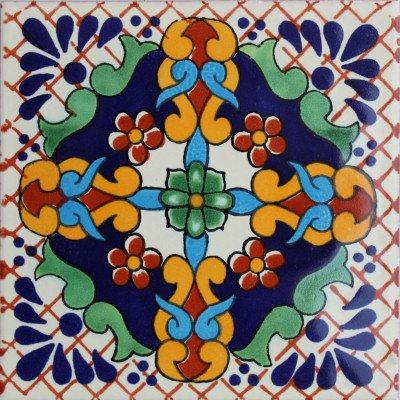Mexico Mexican Talavera Tile (2x2 Macotera Talavera Mexican Tile, Set of 36)