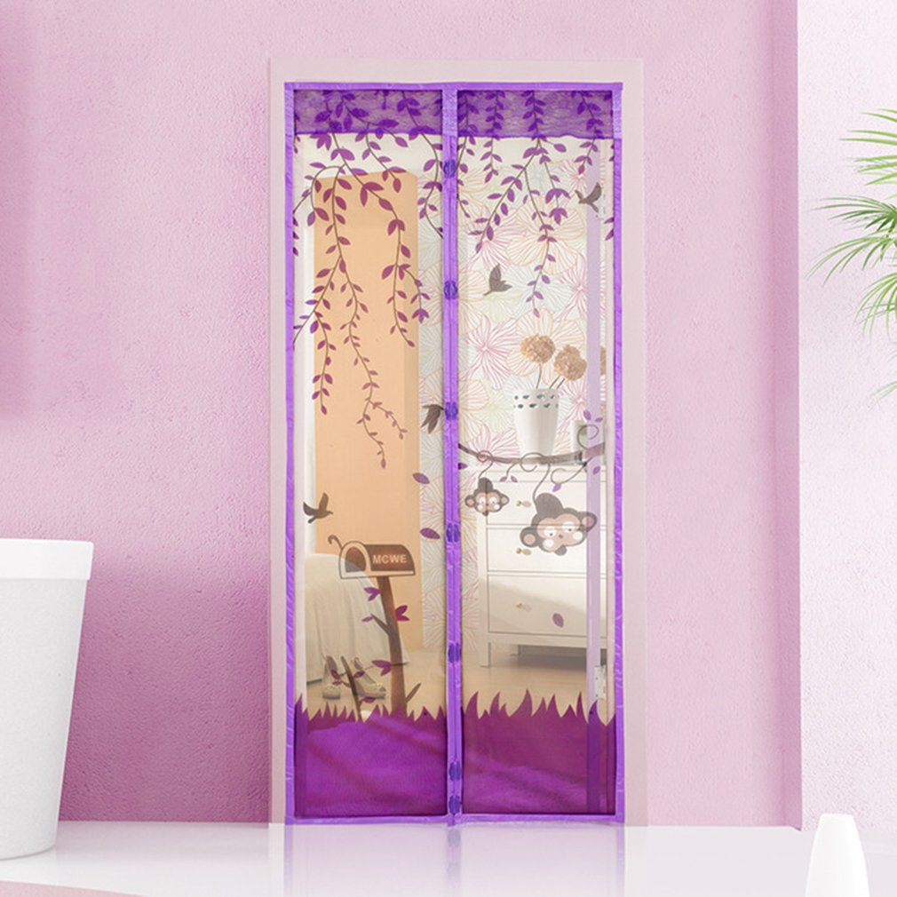 Keep Bugs Out & Fresh Air In Magnetic Snap Mesh Screen Door Fly Bug Insect Anti Mosquito Net Screen Curtain