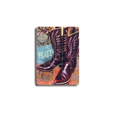 Artehouse LLC Boots Planked Sign by Lisa Weedn Graphic Art Plaque
