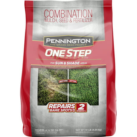 Pennington One Step Complete Sun and Shade Grass Seed, Patch and Repair Mix; 10 lb.