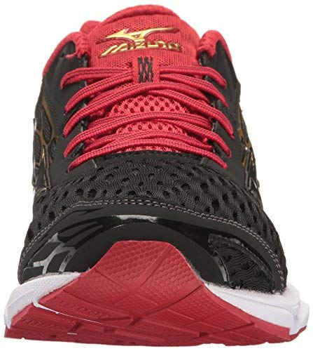 Mizuno Mens Wave Catalyst 2 Running Shoes Black/Red Size 9