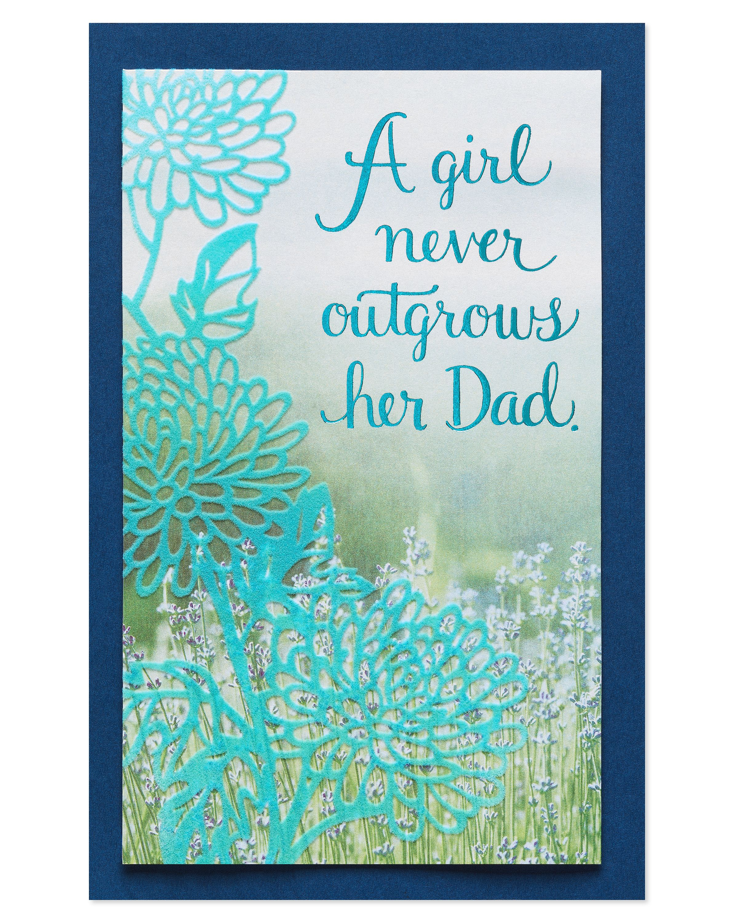 Greeting Card My Hero Birthday Dad From Daughter