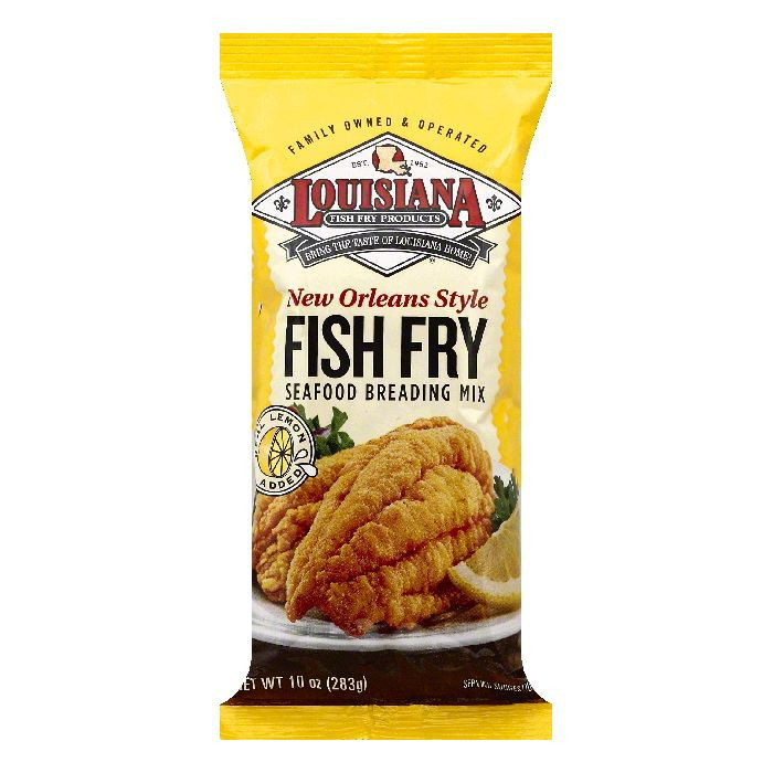 (4 Pack) Louisiana New Orleans Style Fish Fry Seafood Breading Mix, 10 oz