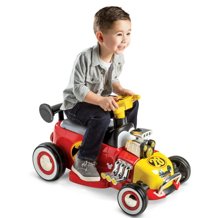 Disney Mickey Boys' 6V Red Battery-Powered Ride-On Quad Toy by - Cool Boys Toys