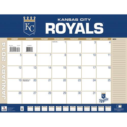 Turner Licensing Kansas City Royals 2014 22 X 17 Desk Calendar