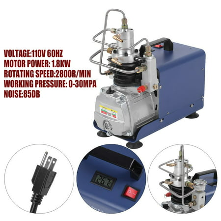 (300BAR 4500PSI Electric high pressure pump Air Compressor for Pneumatic PCP Inflator Airgun Scuba Rifle Pump (30MPa 110V))