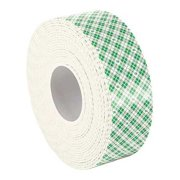 """3M 4016 3M 4016 Double Coated Foam Tape 1"""" x 5yd, White, 1/16"""" thick"""
