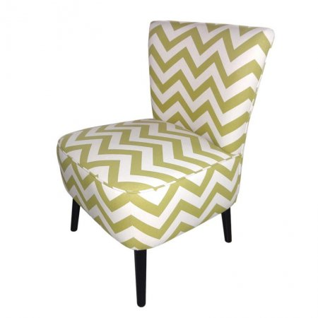 Joveco Fabric Chevron Armless Accent Side Chair Walmart Com